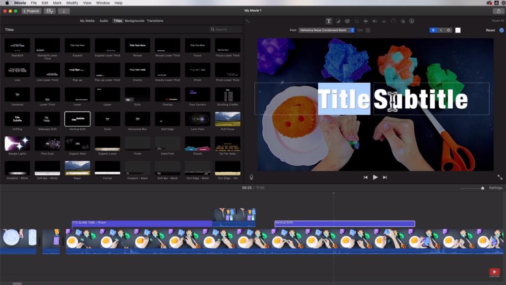 Editing title screen
