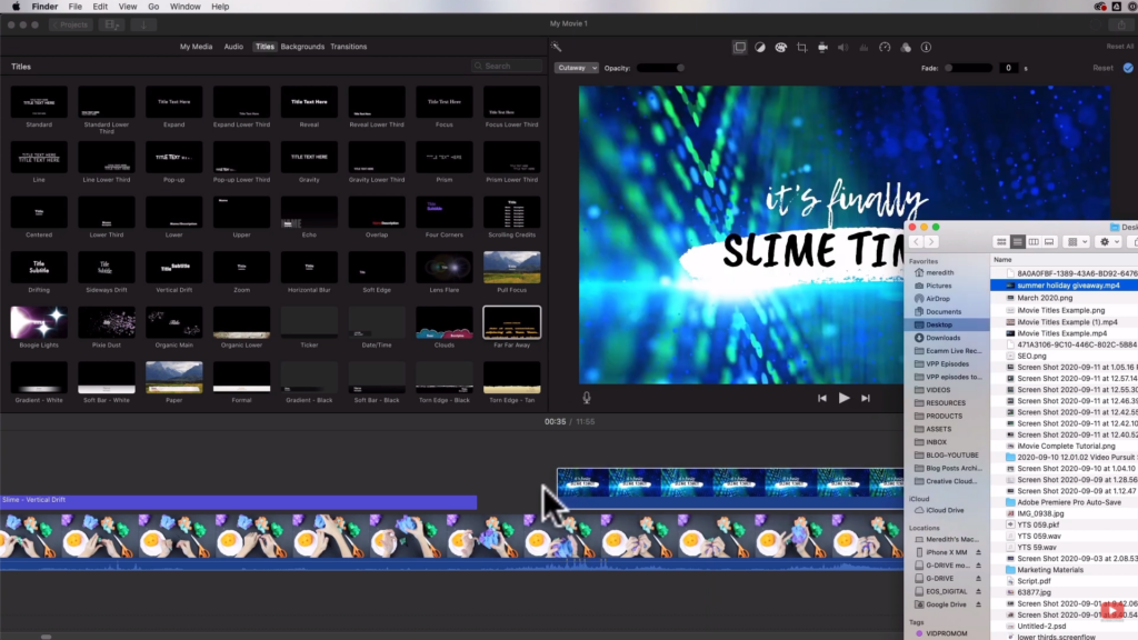 adding your title screen to iMovie