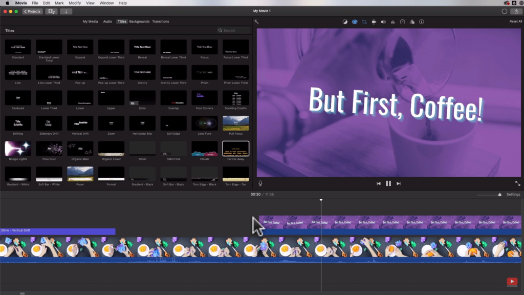 adding animated title screen from canva to iMovie