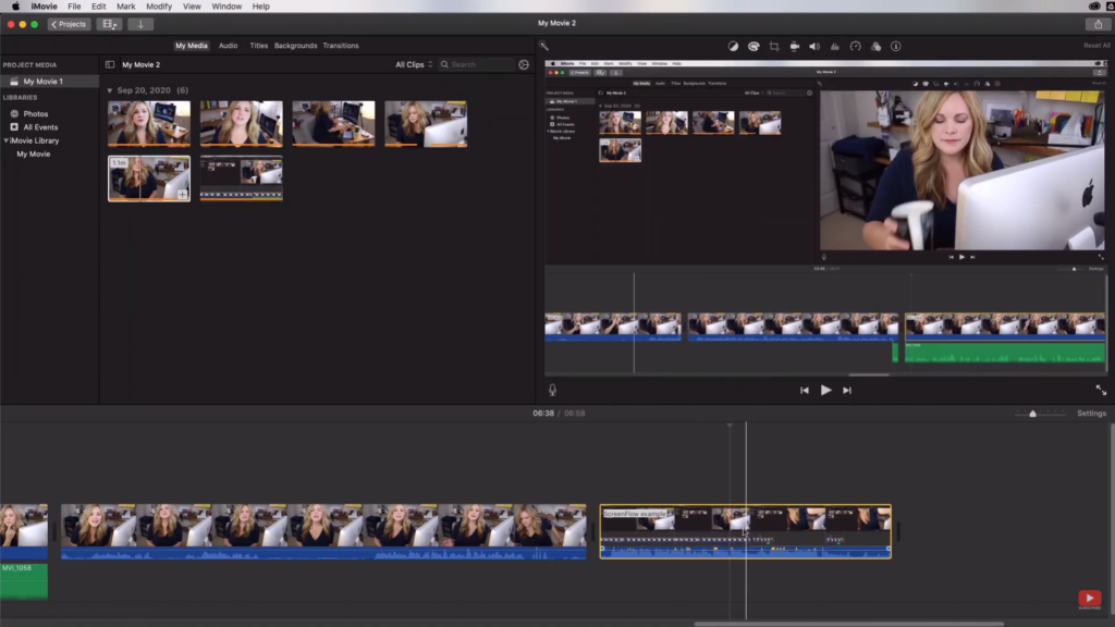 adding a b-roll tease to your iMovie video