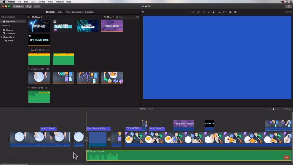 editing audio file in iMovie