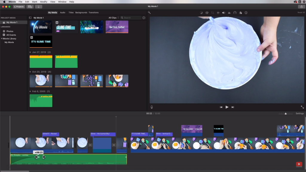fading in and out an audio in iMovie
