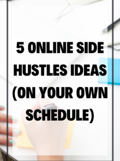 5 Online Side Hustles Ideas on Your OWN Schedule