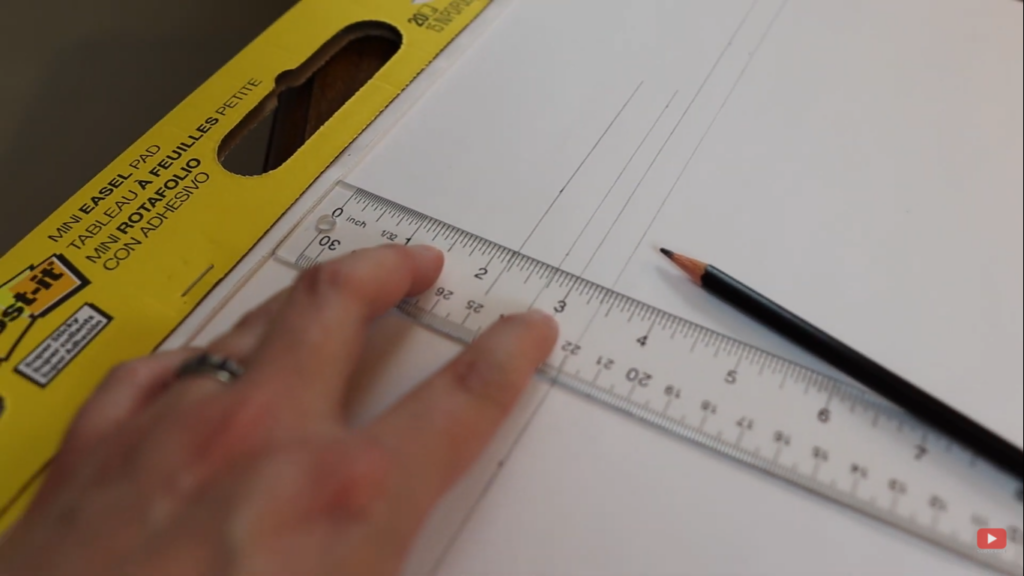 creating the lines for the labels of the calendar wall