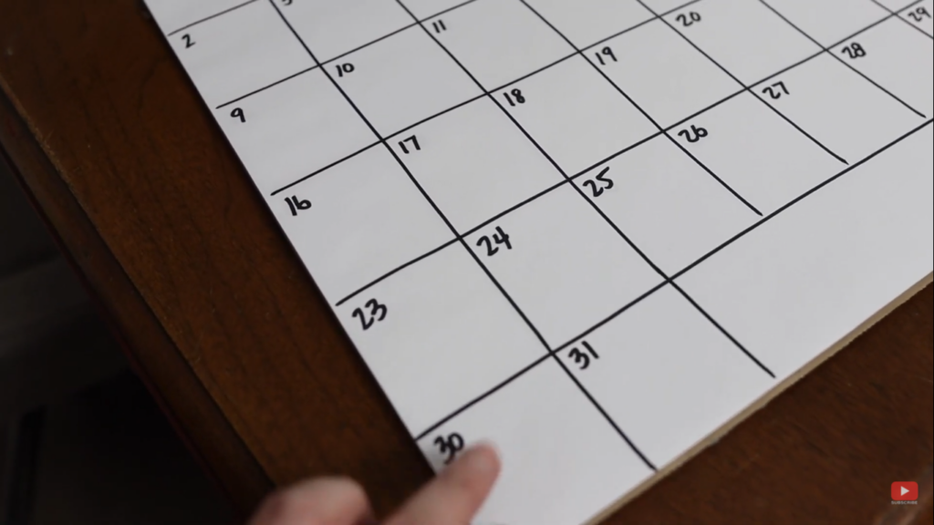 some months in the calendar might go over the designated rows of the calendar template