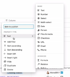 adding more columns to your table in notion