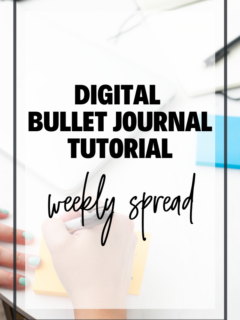Digital Bullet Journal Tutorial - weekly spread graphic