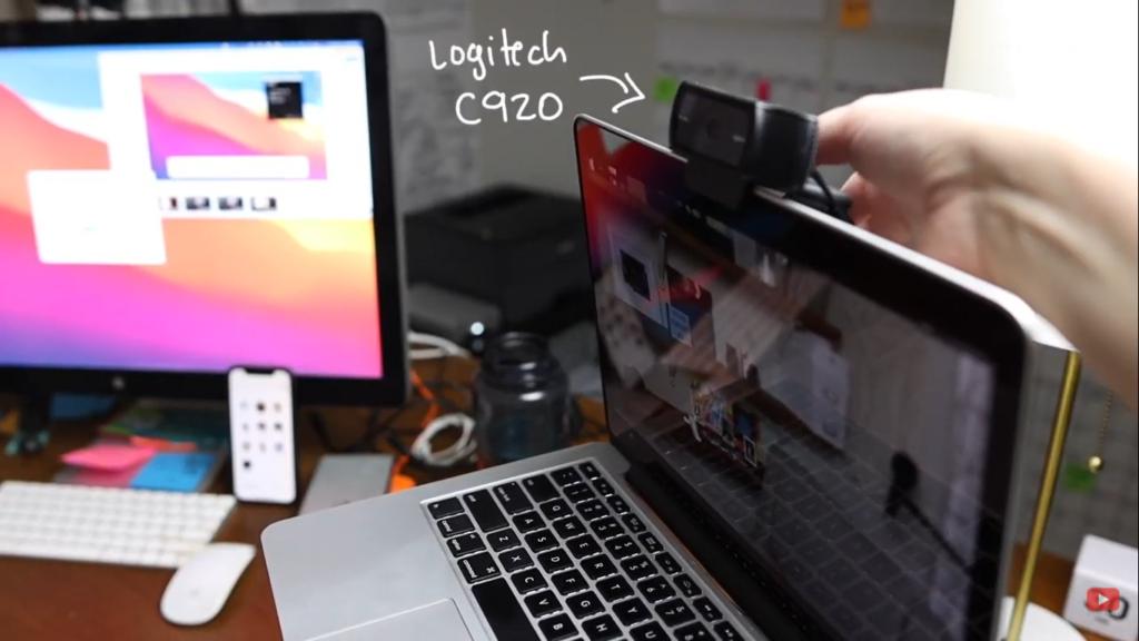 logitech c920 as my external webcam