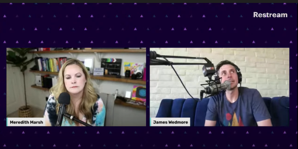Meredith and James Wedmore in the Making the Jump: Content Creation to Online Courses